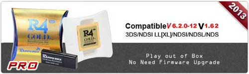 R4 Gold Pro for DS Gaming on NEW 3DS XL, 3DS, 2DS, DSi XL