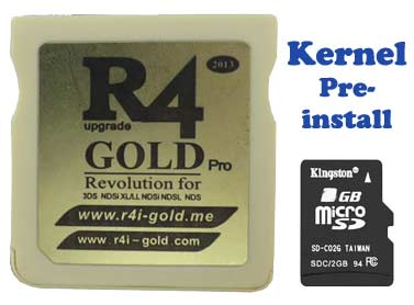 Pre-install R4 Gold Pro 2018 card, Plug & Play on New 3DS