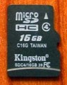 Kingston 16GB Micro SDHC Memory Card