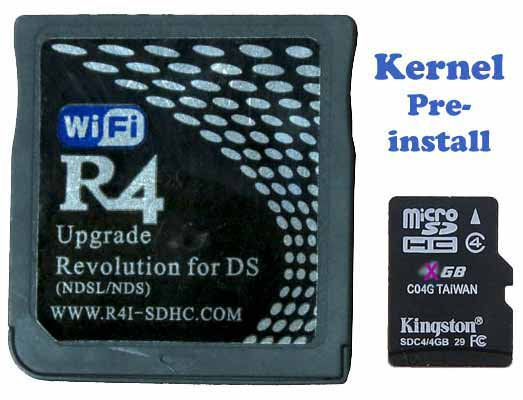 Pre-install latest R4 SDHC kernel to Plug & Play DS Games on DS & DSL