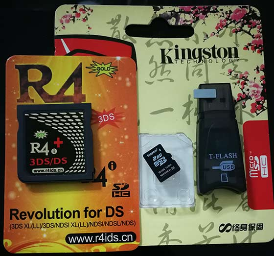 Pre-install R4i Gold 3DS rts card, Plug & Play on 3DS XL