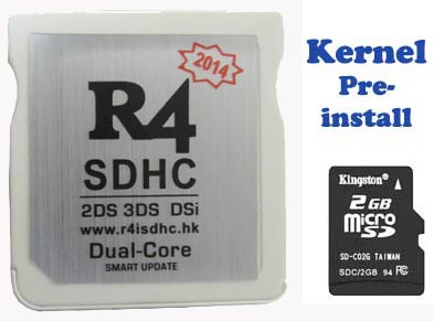 Pre-install R4 dual core 2018 card, Plug & Play on NEW 3DS XL, NEW