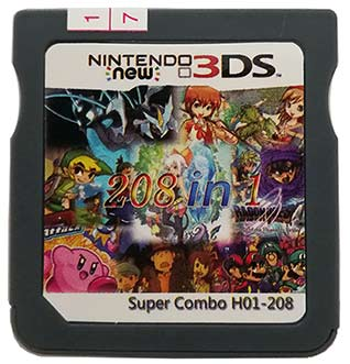 Installed 208 Popular DS Games - Multi Games Card for NEW